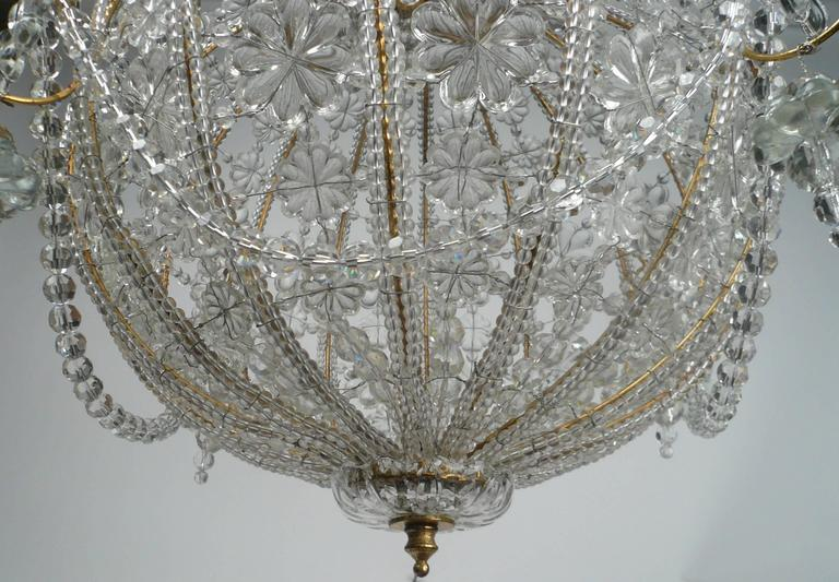 Beaded Crystal and Gilt Metal Baguès Style Mid-Century Circular Chandelier & Antique Lighting Edward F. Caldwell Mark Evers Antiques azcodes.com