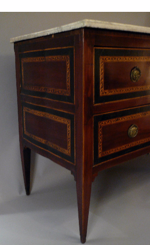 Northern Italian Neoclassical Marble-Top Commode