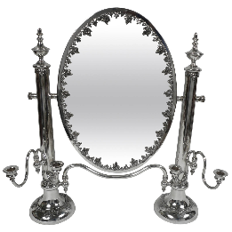 Edwardian Silver Plated Dressing Mirror