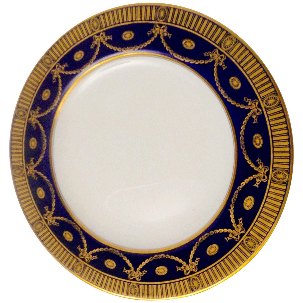 12 Spode Cobalt and Gilt Porcelain Dinner Plates
