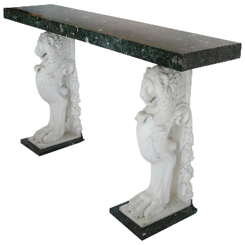 Continental Carved Marble Console Table, circa 1900