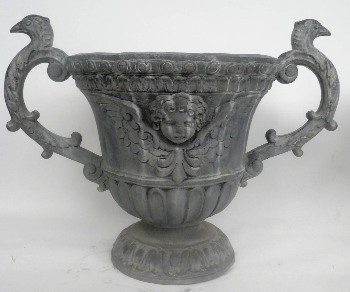 Pair of Old English Style Lead Garden Urns