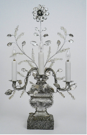 Pair of Baques Three-Light Candelabra, Early 20th Century