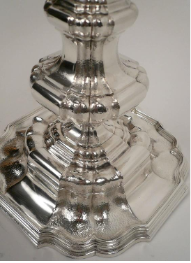 Georgian Style Silver Plated Bronze Table Lamp
