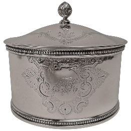 19th Century American Sterling Silver Tea Caddy by Shreve, Stanwood & Co., Boston