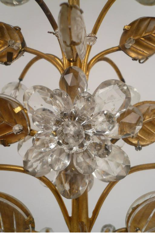 Pair of French Gilt Bronze and Rock Crystal Candelabra by Maison Baguès