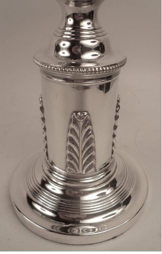 Edward F. Caldwell Silver Plated Bronze Argand Lamp