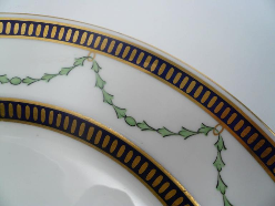 12 Royal Crown Derby Porcelain Dinner Plates